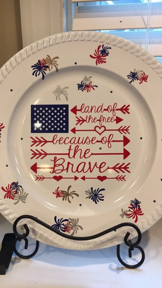 4th of July Charger Plate idea & 857 best Decorative plates images on Pinterest | Charger plates ...