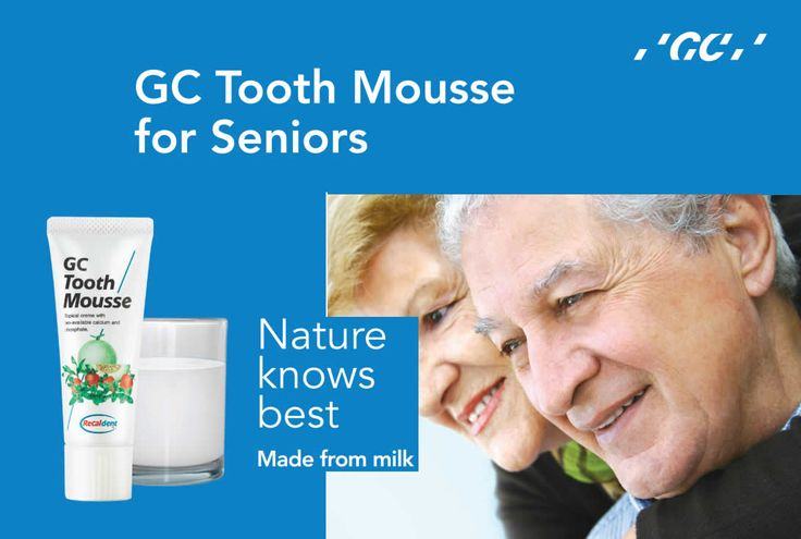 Helping you maintain your healthy happy smile. As we age, the battle to maintain good general health intensifies and oral health often diminishes from adverse health conditions and resulting medications. GC #ToothMousse is an essential part of a good oral health program as prescribed by your dental professional. It contains 10% (wt) RECALDENT™ (CPP-ACP) to provide you with a concentrated source of bio-available calcium and phosphate for strengthening and protecting your teeth.