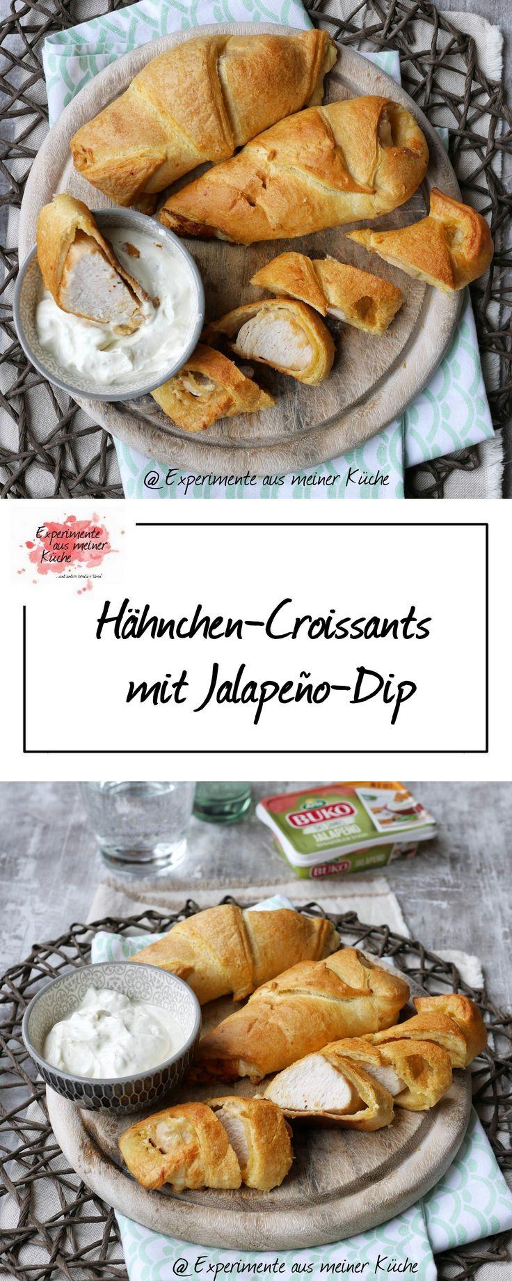Hähnchen-Croissants mit Jalapeño-Dip | Rezept | Fingerfood | Kochen | Partyfood