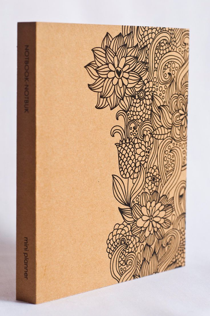 Mini Kraft Weekly Planner - Floral Art Print. $11.50, via Etsy. Love the idea of doodling along the edges of a smashbook cover.
