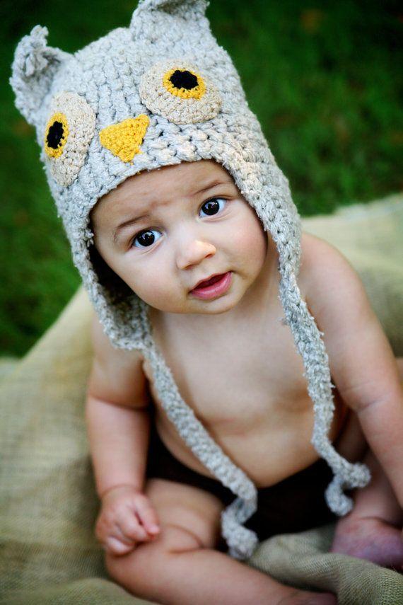 Now that is a hat! Eco Owl Baby Hat