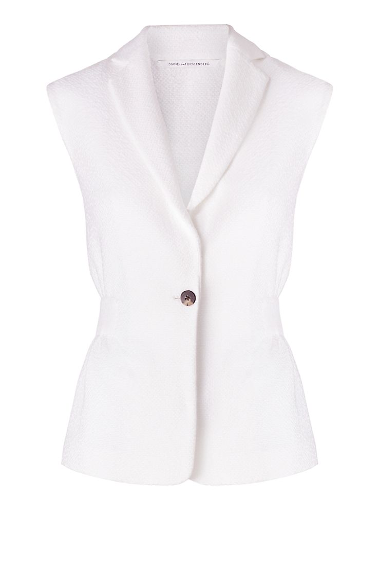 DVF Gavyn Textured Cotton Vest   Landing Pages by DVF