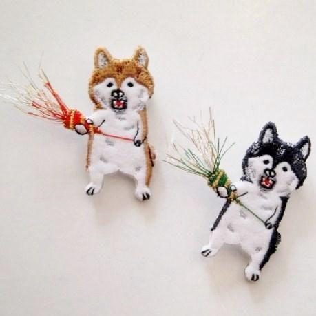 【pokefasu】お祝い犬バッチ - 雑貨 hina