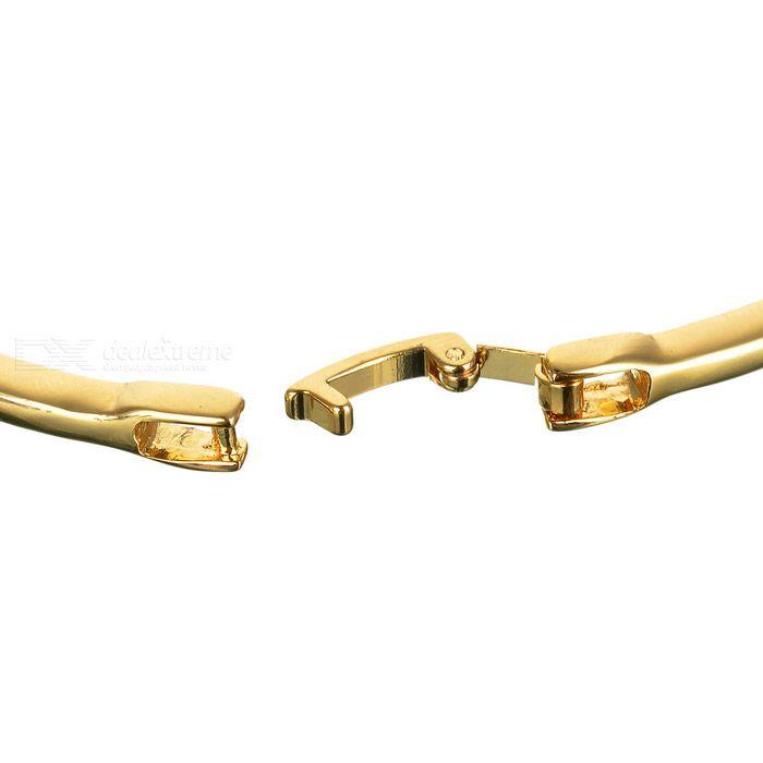Glamorous Crystal Alloy Gold Plated Bracelet