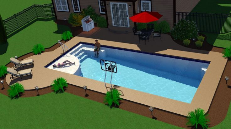 New Great Lakes In Ground Fiberglass Pool By San Juan