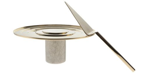 6.Stone Cake Stand, $315 and Form Cake Slice, $130, by Tom Dixon, from ECC.