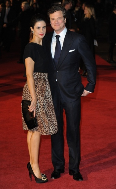 Colin Firth and his wife Livia Giuggioli