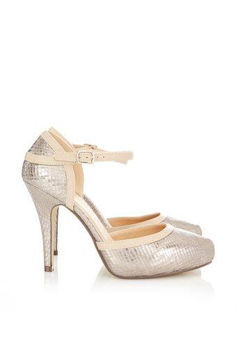 Silver Court Shoe