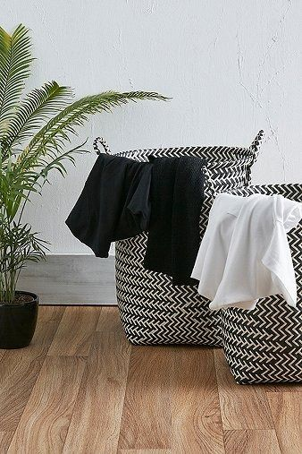 Black and White Stripe Laundry Basket Set | Home & Gifts | Home Furnishings