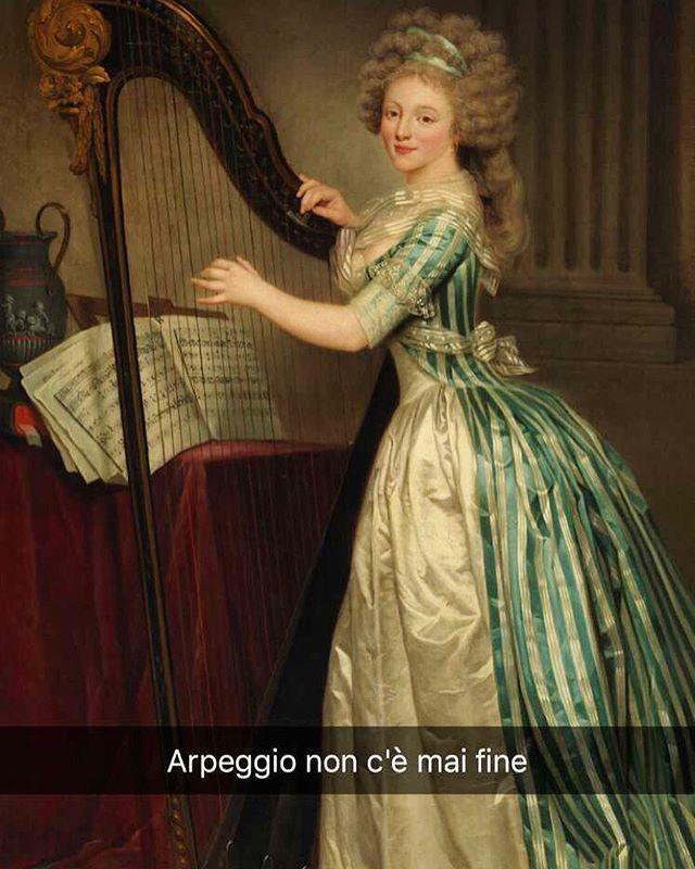 Autoritratto con arpa - Rose Adélaïde Ducreux (1791)  #stefanoguerrera  #seiquadripotesseroparlare