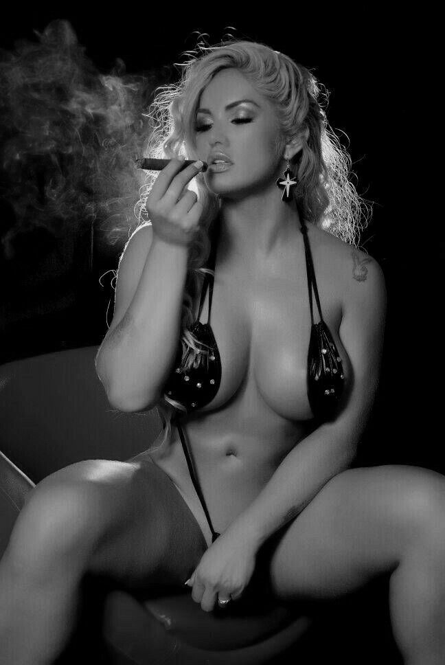 hot women smoking cigars