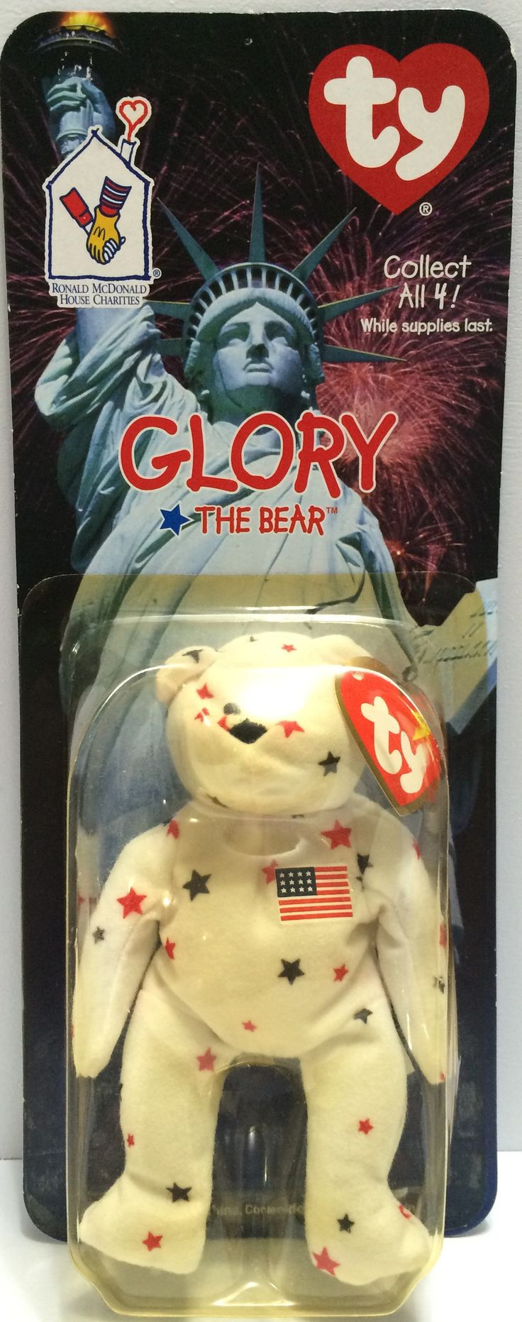 (TAS030428) - 1999 McDonald's TY Beanie Babies - Glory The Bear
