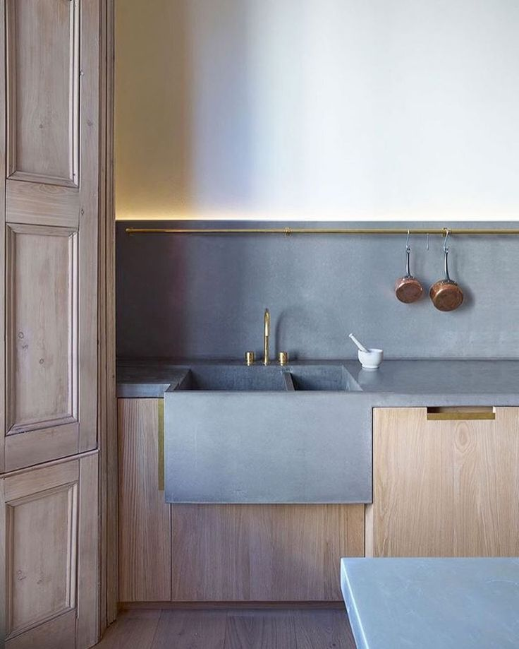 We have also received more s-hooks in hand-forged iron and copper. Ideal for kitchens such as this space saved to IDEAS   HOOKS on Pinterest.com/imprinthouse   Image via mclarenexcell.com #imprinthouse #hooks #pinterest