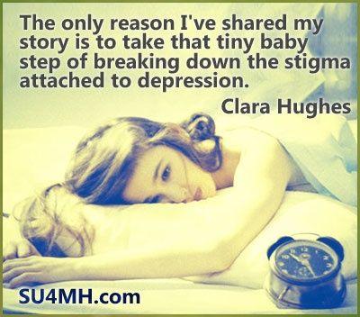 Wisdom on mental health from Clara Hughes