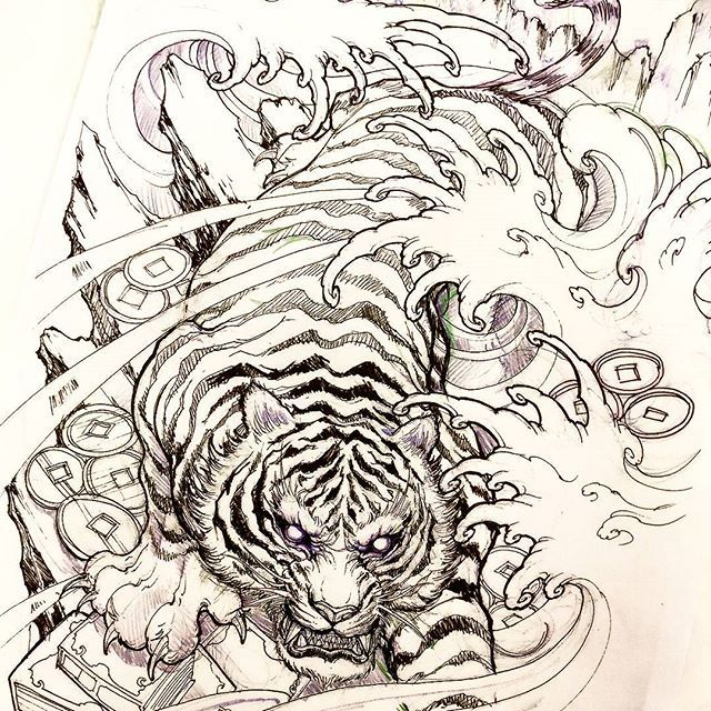Sketch For A Japanese Sleeve: Best 25+ Tiger Tattoo Sleeve Ideas On Pinterest