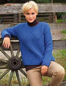 Pullover with a zigzag.