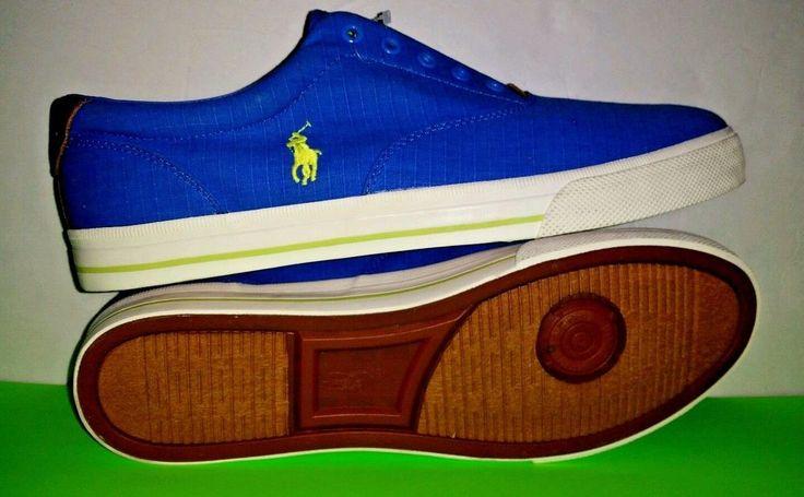 Polo Ralph Lauren Vito Skateboarding Sneaker Canvas Shoes Men Size 15 D Blue New #PoloRalphLauren #LoafersSlipOns