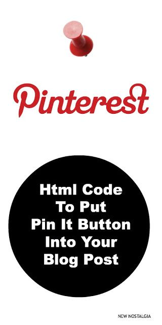 HTML code for pin it button