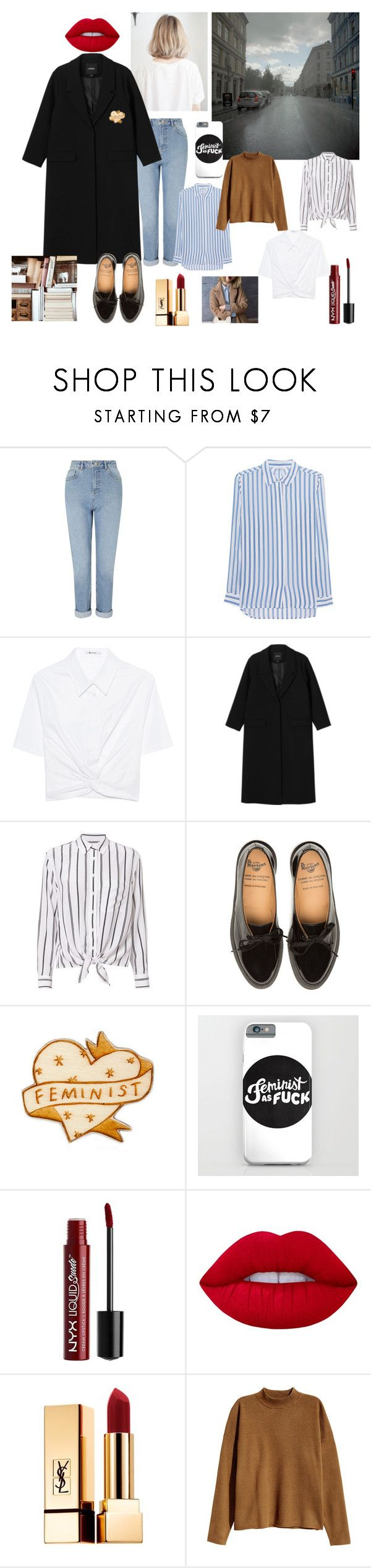 """""""noora"""" by lizzieyockney on Polyvore featuring Miss Selfridge, iHeart, T By Alexander Wang, Monki, Equipment, Charlotte Russe, Lime Crime, Yves Saint Laurent and H&M"""