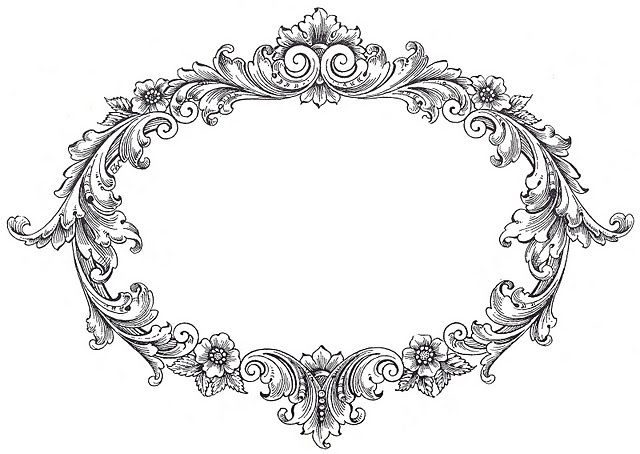 Free vintage frame clip art from the graphics fairy