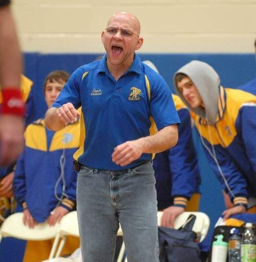 Sean Smith takes over Bacon wrestling program - Mike Voiland knew the day was coming. He just wasn't so sure it would come so quickly. Voiland officially handed over the reins of the Bacon Academy wrestling program to new coach Sean Smith for the first practice on Monday. http://www.norwichbulletin.com/article/20131204/SPORTS/131209786 #CT #HighSchool #Wrestling #Sports