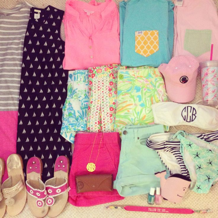 Love the colors...Preppy by the Sea: Spring Break Packing, the Prepppy Way!