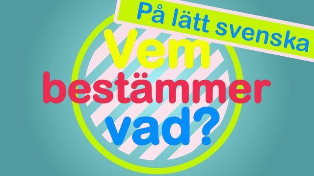 Vem bestämmer vad? - på lätt svenska
