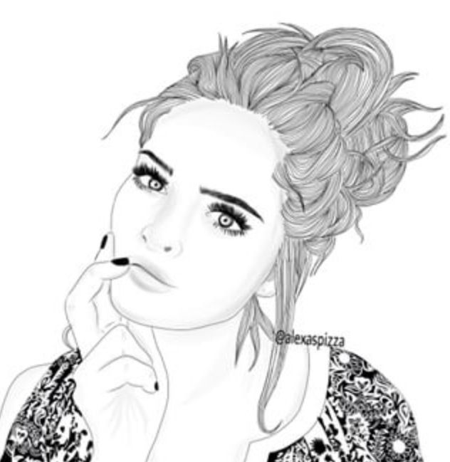 Line Art Hair : Best images about outlines on pinterest art girl