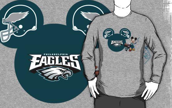 51889bf0 Philedelphia Eagles Mickey Mouse fan T-shirt by My Heart Has Ears   Philadelphia  Eagles   Philadelphia eagles shirts, Philadelphia eagles, Eagles fans