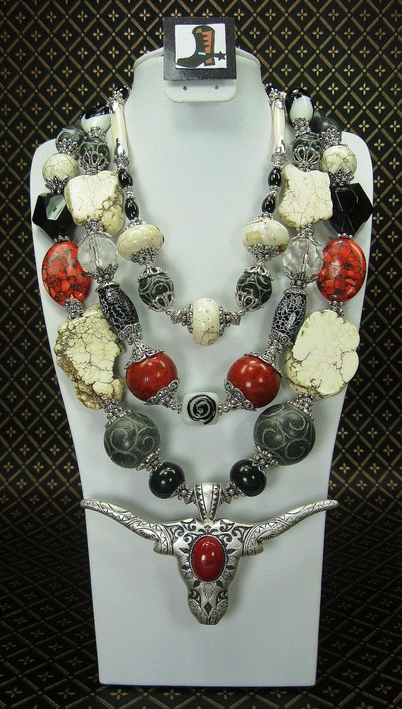 TRIPLE STRAND WESTERN Chunky Cowgirl by CayaCowgirlCreations, $92.50
