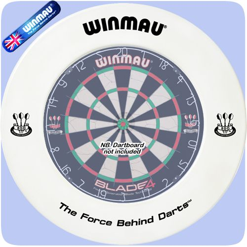 Dartboard Surround - Winmau - Professional - Heavy Duty - White with Winmau Logo - http://www.dartscorner.co.uk/product_info.php?cPath=491&products_id=1621