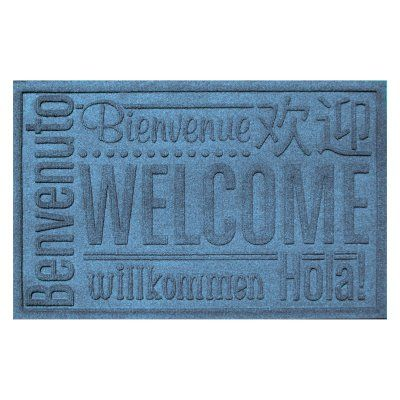 Bungalow Flooring Water Guard World Wide Welcome Indoor / Outdoor Door Mat    2 X 3 Ft. Red/Black   20356550023