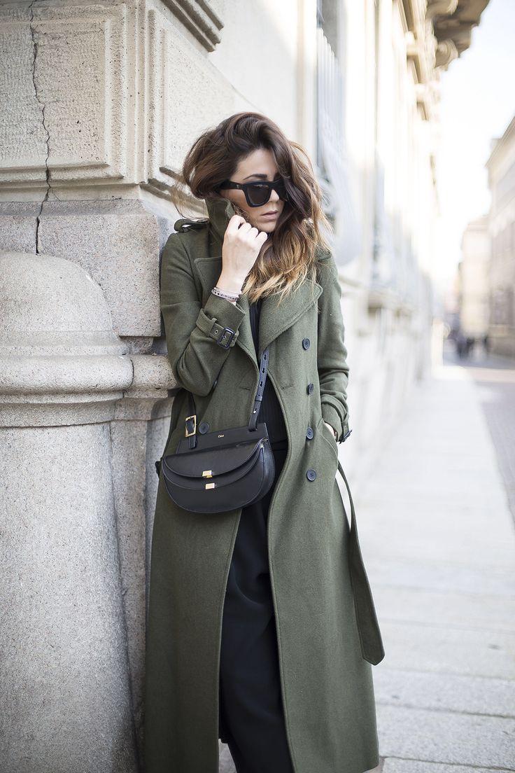 Military Coat in Maxi Length