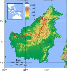 Borneo: 3rd largest island in the world, largest island of Asia; located north of Java, west of Sulawesi, east of Sumatra at the geographic center of Maritime Southeast Asia; divided among 3 countries: Brunei, Indonesia, Malaysia