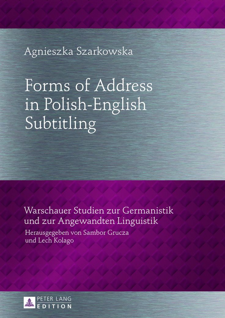 Forms of Address in Polish-English Subtitling