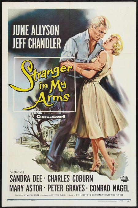 A Stranger in My Arms (1959) Stars: June Allyson, Jeff Chandler, Sandra Dee, Charles Coburn, Mary Astor, Peter Graves, Conrad Nagel, Hayden Rorke ~ Director: Helmut Käutner
