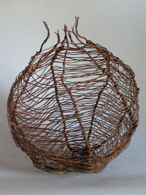 Wire Wire Sculptures #sculpture by #sculptor Tabitha Sheehn Davis titled: 'Granada' #art