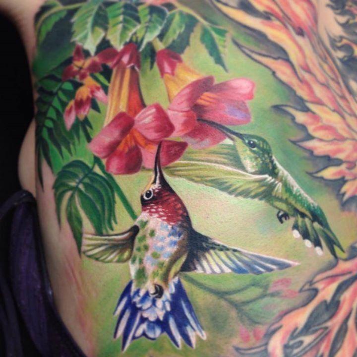 Hummingbird Flower Tattoos: Beautiful Hummingbird & Flower Tattoo