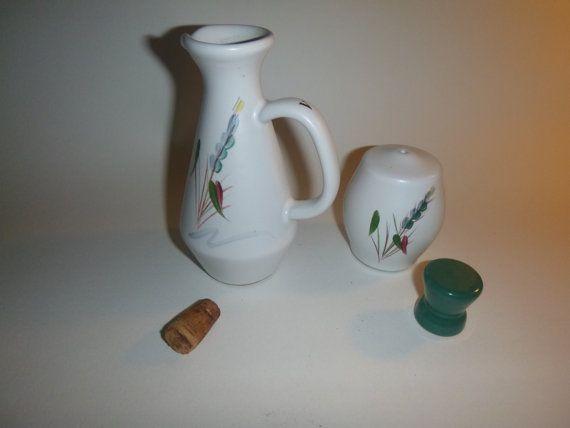 Denby Salt and Vinegar Set Vintage Table by getgiftideas on Etsy