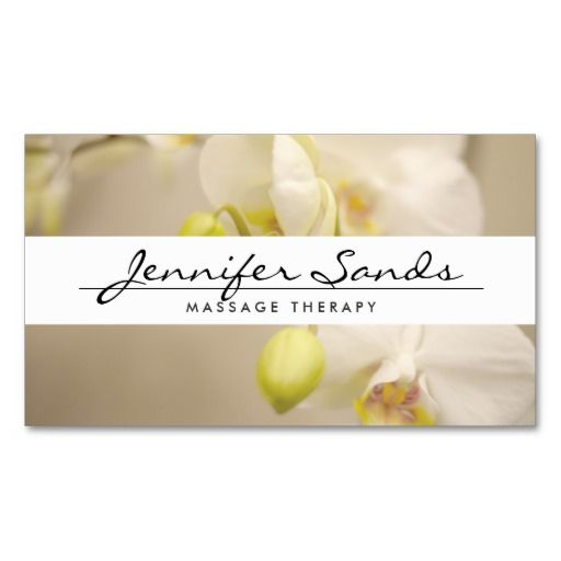 303 best spa business card templates images on pinterest massage elegant name with orchids business card reheart Choice Image