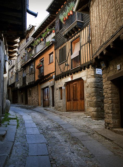 La Alberca, Salamanca, Castilla y León, Spain. Capital of Sierra de Francia Comarca. The Carmelite convent of Batuecas Desert, established by Thomas á Jesu is located five kilometres away, but the route there from the town is 12 km.