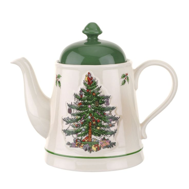 Spode Christmas Tree Embossed Teapot Tea pot - The most popular Christmas pattern in the world