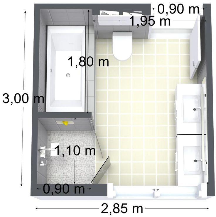 Idée décoration Salle de bain Tendance Image Description bathroom floor plan