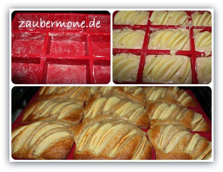 www.zaubermone.de: Apfelküchlein mit Walnüssen
