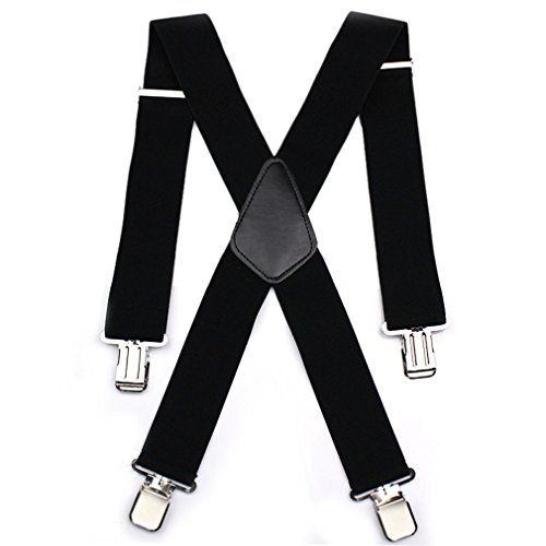 Durable 50MM Wide Black Elastic and Adjustable Men Trouser Braces Suspenders X shape with Strong Metal Clips - Heavy Duty Aulola http://www.amazon.co.uk/dp/B013DC2YGY/ref=cm_sw_r_pi_dp_KUoqwb1MXEMS2