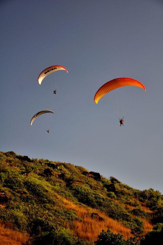 #Paragliding in #Goa #beach