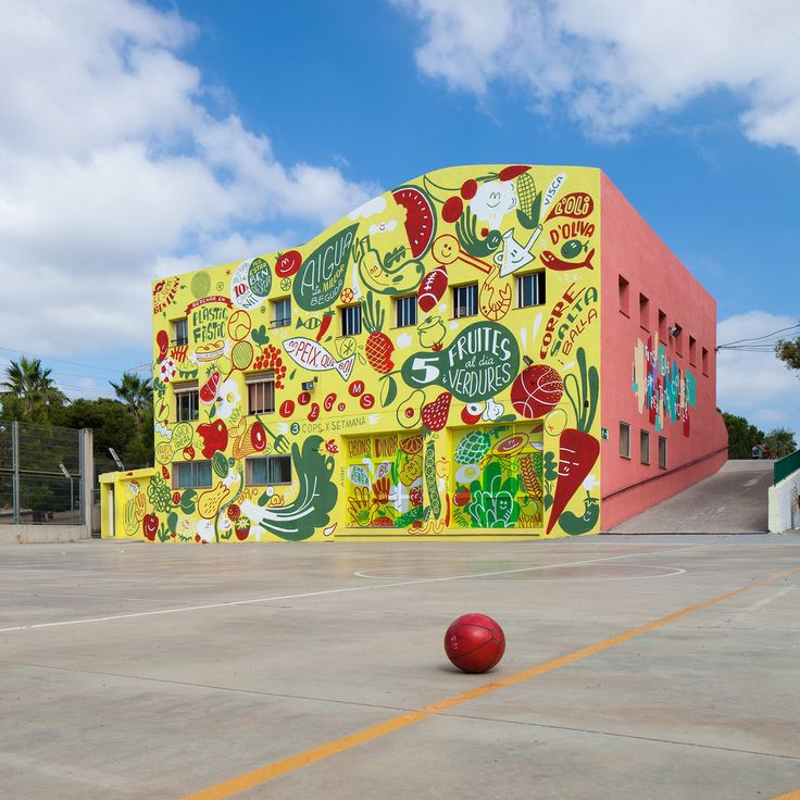 Healthy school mural to prevent childhood obesity on Behance