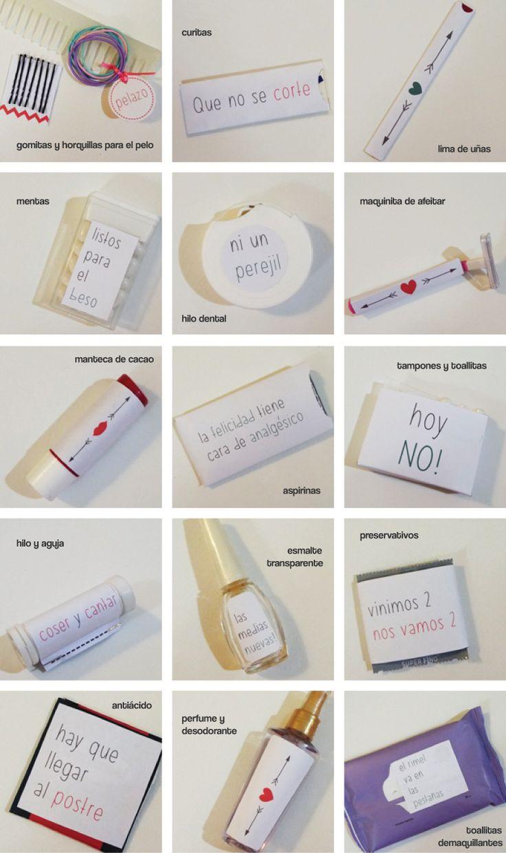 Ideas para armar kit de baños lindos y simples para tu casamiento