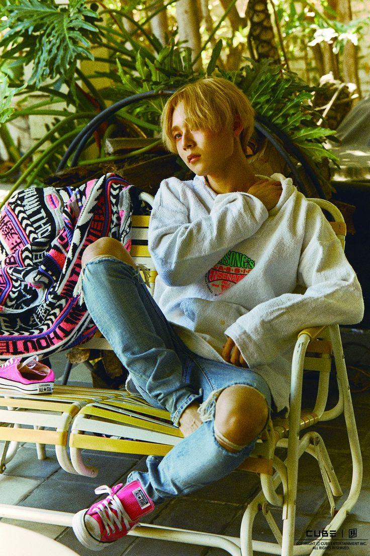 "E'Dawn no photoshoot do 1st Mini álbum ""199X"" do TRIPLE H"