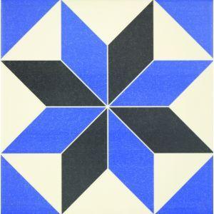 Carrelage carreau ciment 20x20 cm bleu - 31,88 €